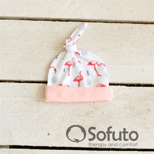Шапочка узелок Sofuto Baby Flamingo - фото 10000