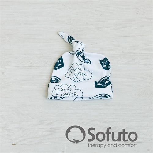 Шапочка узелок Sofuto Baby Batman - фото 10006