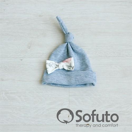 Шапочка узелок Sofuto Baby Vintage gray - фото 10007