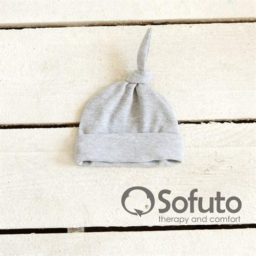 Шапочка узелок Sofuto Baby Gray - фото 10008