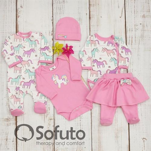 Комплект одежды 5 предметов Sofuto baby Unicorn - фото 10018