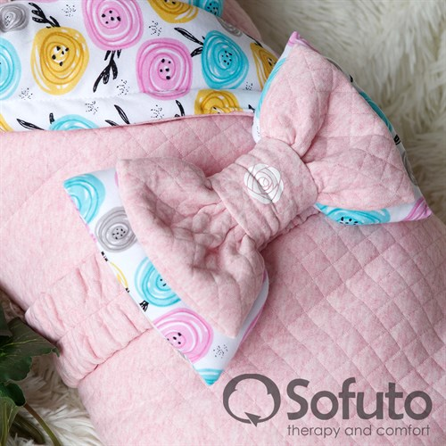 Комплект на выписку тёплая осень (6 предметов) Sofuto Rosa dior - фото 10049