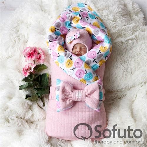 Комплект на выписку тёплая осень (6 предметов) Sofuto Rosa dior - фото 10050