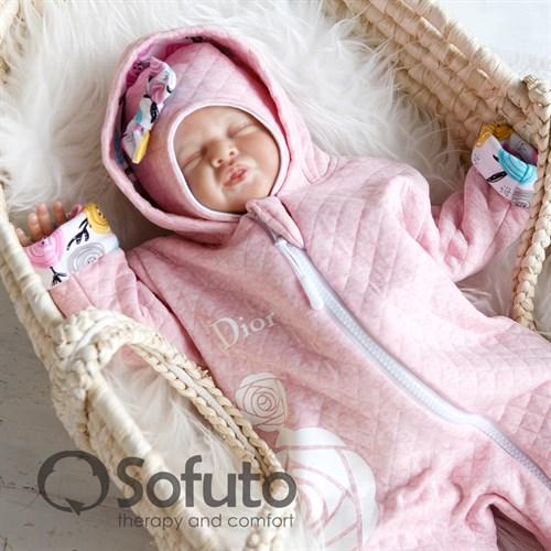 Комплект на выписку тёплая осень (6 предметов) Sofuto Rosa dior - фото 10052