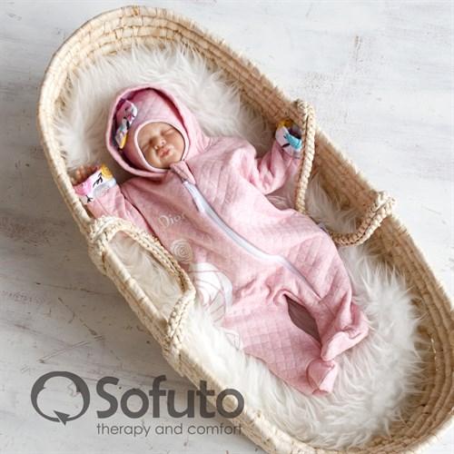 Комплект на выписку тёплая осень (6 предметов) Sofuto Rosa dior - фото 10053