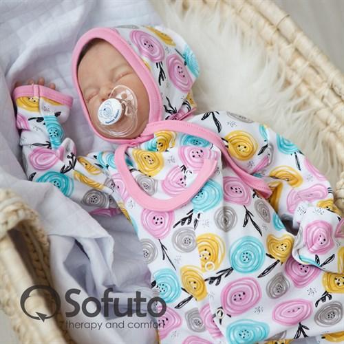 Комплект на выписку тёплая осень (6 предметов) Sofuto Rosa dior - фото 10057