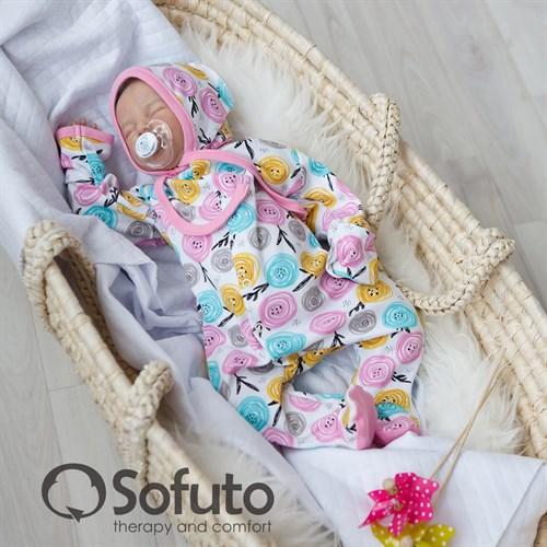 Комплект на выписку тёплая осень (6 предметов) Sofuto Rosa dior - фото 10058
