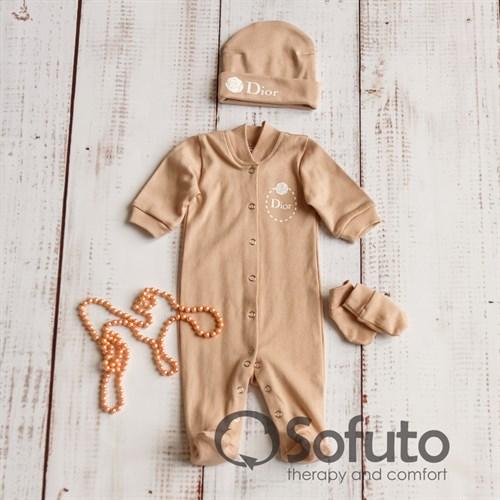 Комплект 3 предмета Sofuto baby Latte girl - фото 10085