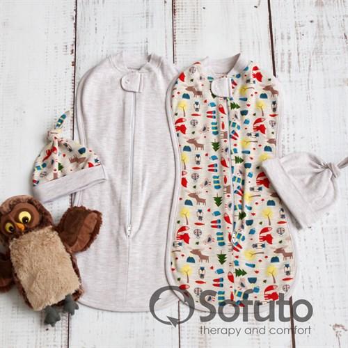 Комплект пеленок Sofuto Swaddler animal travel - фото 10104