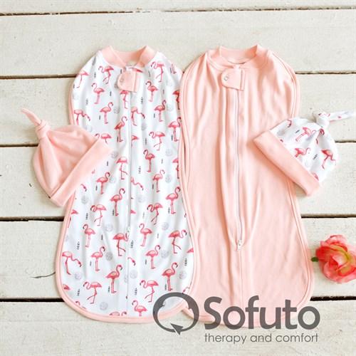Комплект пеленок Sofuto Swaddler Flamingo - фото 10117