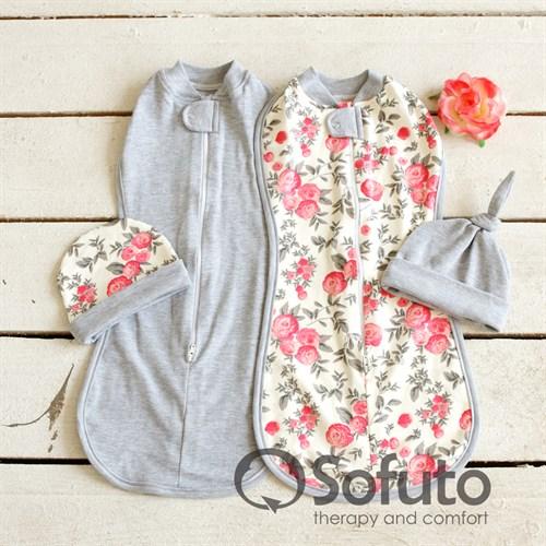 Комплект пеленок утепленный Sofuto Swaddler Vintage - фото 10119