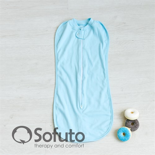 Пеленка на молнии Sofuto Swaddler Light blue - фото 10120