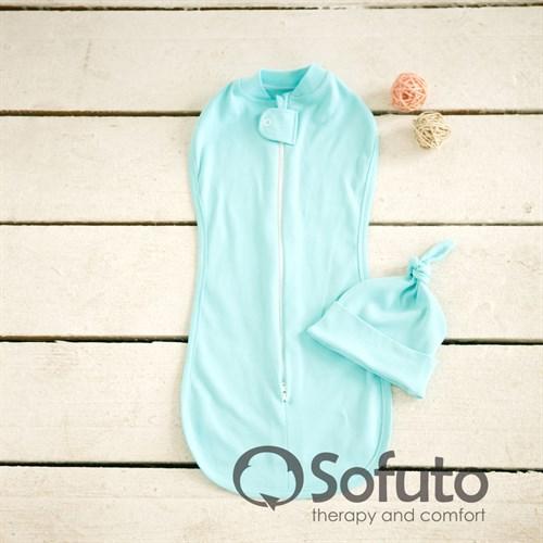 Пеленка на молнии Sofuto Swaddler aqua - фото 10126