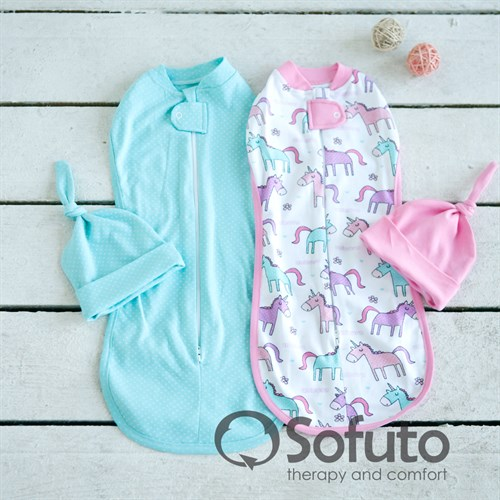 Комплект пеленок Sofuto Swaddler tiffany - фото 10130