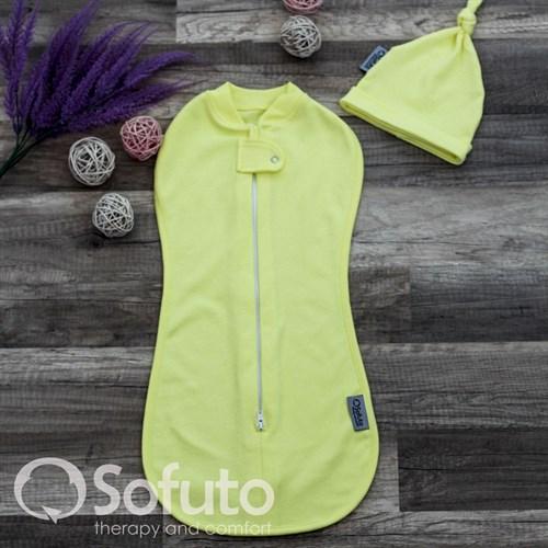 Пеленка на молнии Sofuto Swaddler yellow - фото 10132