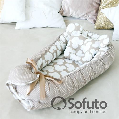 Кокон-гнездышко Sofuto Babynest Сoffee dots - фото 10139