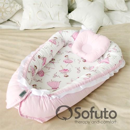Кокон-гнездышко Sofuto Babynest Balerina - фото 10143