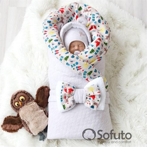 Комплект на выписку холодная зима (6 предметов) Sofuto baby animal travel - фото 10162