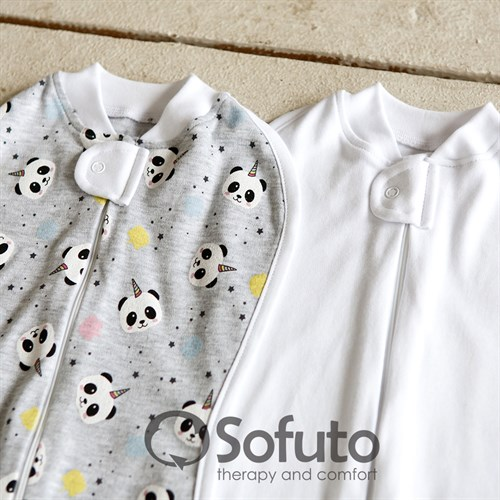 Комплект пеленок Sofuto Swaddler magic Panda - фото 10247