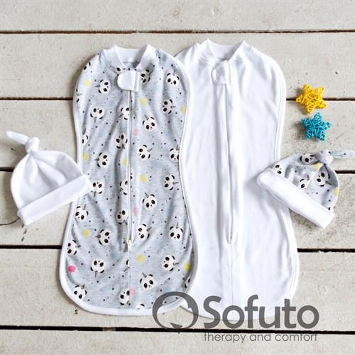 Комплект пеленок Sofuto Swaddler magic Panda - фото 10249