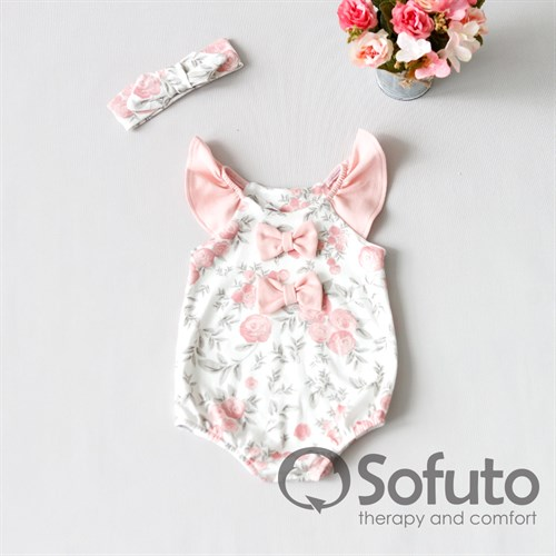 Песочник с повязкой Sofuto baby Vintage poudre - фото 10264