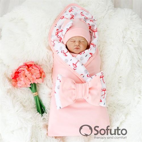 Комплект на выписку летний (5 предметов) Sofuto baby Flamingo - фото 10294