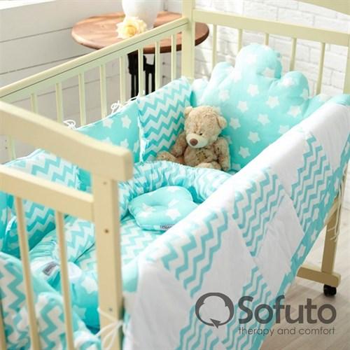 Комплект бортиков Sofuto Babyroom BCL-SCL-S8 Aqua - фото 10342
