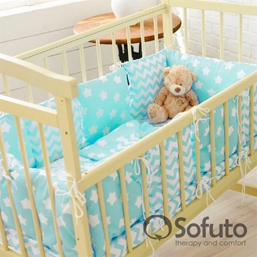 Комплект бортиков Sofuto Babyroom B2-S8-P Aqua - фото 10347