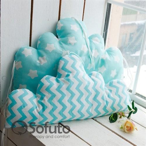 Бортик Sofuto Babyroom Cloud big Aqua - фото 10352