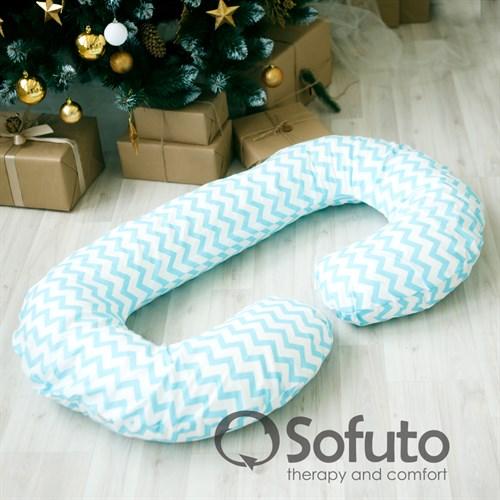 Подушка для беременных Sofuto CСompact Blue waves - фото 10433