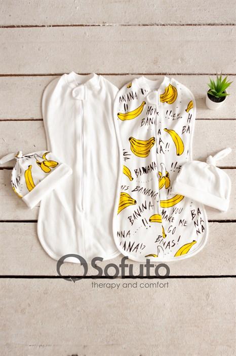 Комплект пеленок Sofuto Swaddler bananas - фото 10492