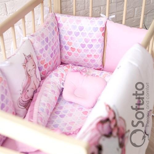 Комплект бортиков + стеганое одеяло Sofuto Babyroom Unicorn - фото 10580