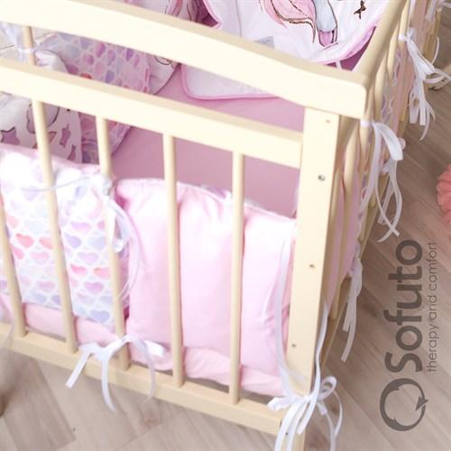Комплект бортиков + стеганое одеяло Sofuto Babyroom Unicorn - фото 10581