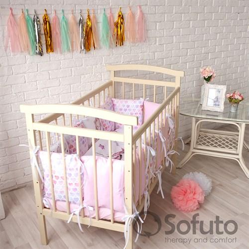 Комплект бортиков + стеганое одеяло Sofuto Babyroom Unicorn - фото 10584
