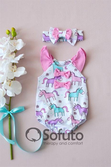 Песочник с повязкой Sofuto baby Unicorn - фото 10635