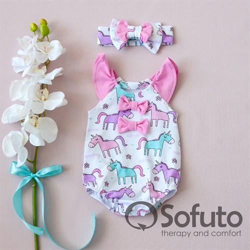 Песочник с повязкой Sofuto baby Unicorn - фото 10638