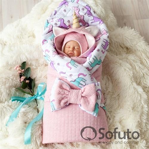 Комплект на выписку тёплая осень (6 предметов) Sofuto Unicorn - фото 10699