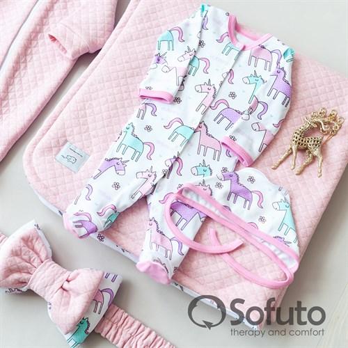 Комплект на выписку тёплая осень (6 предметов) Sofuto Unicorn - фото 10702