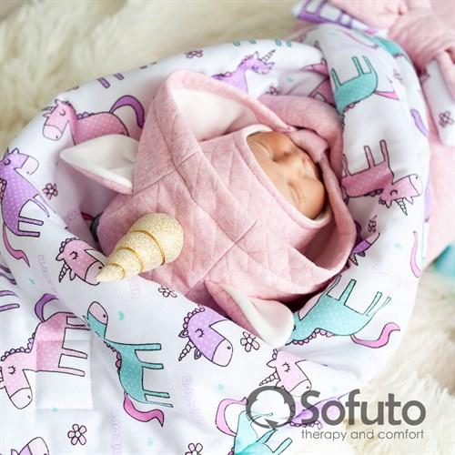 Комплект на выписку тёплая осень (6 предметов) Sofuto Unicorn - фото 10704