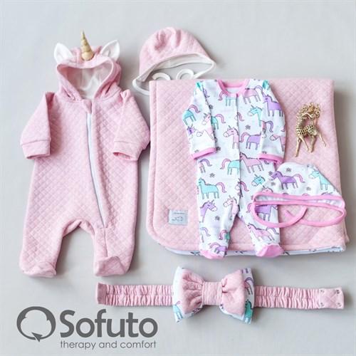 Комплект на выписку тёплая осень (6 предметов) Sofuto Unicorn - фото 10707