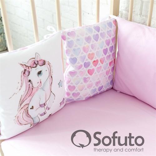 Комплект бортиков + стеганое одеяло Sofuto Babyroom Unicorn - фото 10760