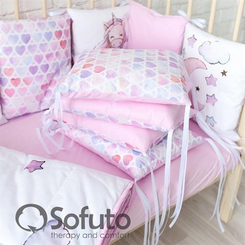 Комплект бортиков + стеганое одеяло Sofuto Babyroom Unicorn - фото 10762