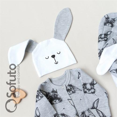 Комплект на выписку холодное лето (5 предметов) Sofuto baby Rabbit - фото 10866