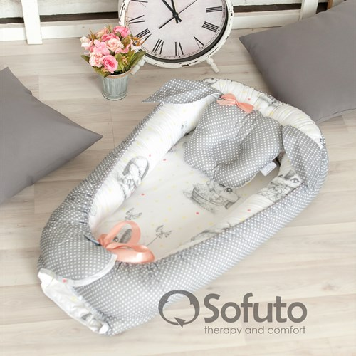 Кокон-гнездышко Sofuto Babynest Cute rabbit - фото 10916