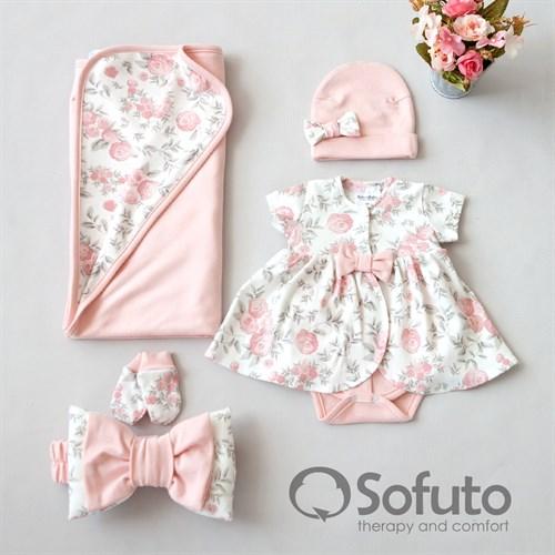 Комплект на выписку жаркое лето (5 предметов) Sofuto baby Vintage poudre - фото 10962