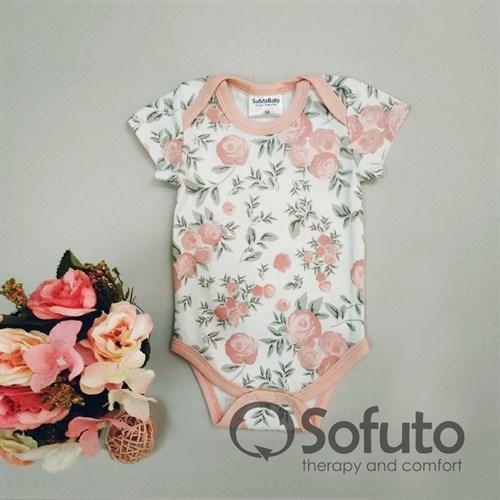 Боди короткий рукав Sofuto baby Vintage poudre - фото 11064