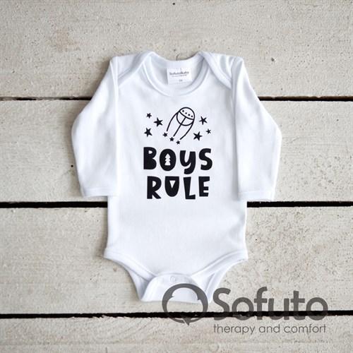 Боди детское Sofuto baby Boys rule - фото 11067