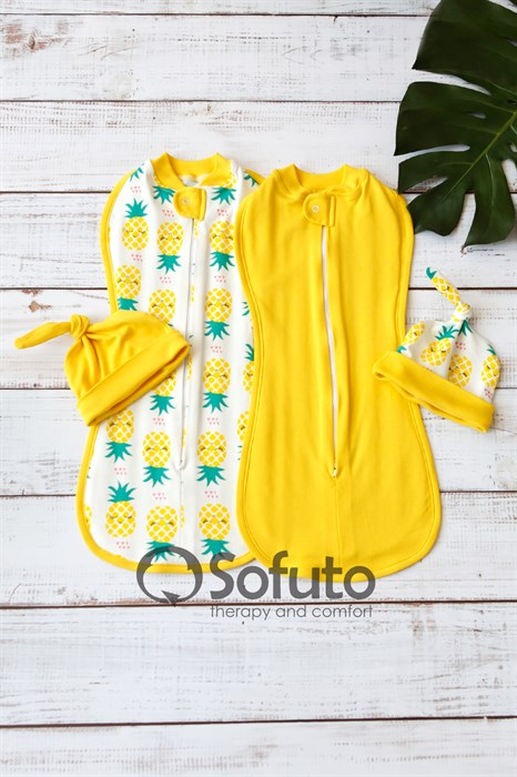 Комплект пеленок Sofuto Swaddler Pineapple - фото 11153