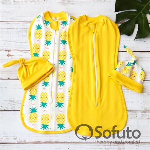 Комплект пеленок Sofuto Swaddler Pineapple - фото 11155