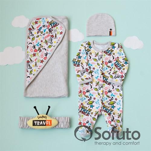 Комплект на выписку летний (4 предмета) Sofuto baby Cosmos